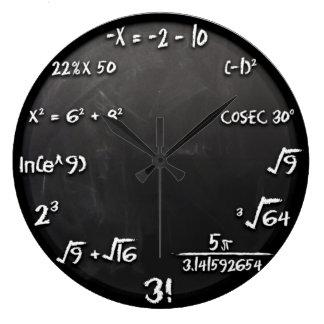 Mathe-Gleichungs-Uhr (Schwarzes) Große Wanduhr