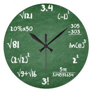 Mathe-grüne Schiefer-Mathematik-Wanduhr Große Wanduhr