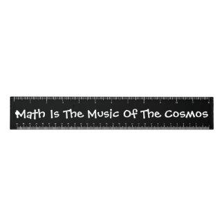 """Mathe ist die Musik des Kosmos"" 12 Zoll Lineal"