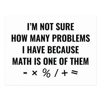 Mathe ist eins von ihnen postkarte