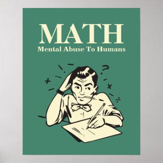 MATHE ist Geistesmissbrauch zu den Menschen - Poster