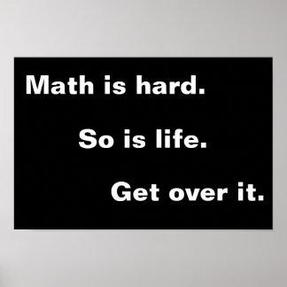 Mathe ist hart poster