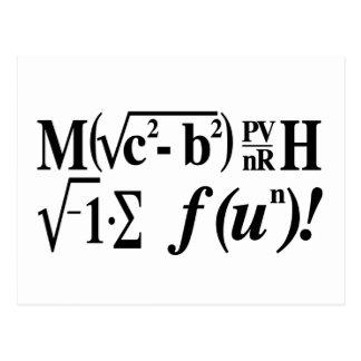 Mathe ist Spaß! Postkarte