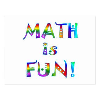 Mathe ist Spaß Postkarte