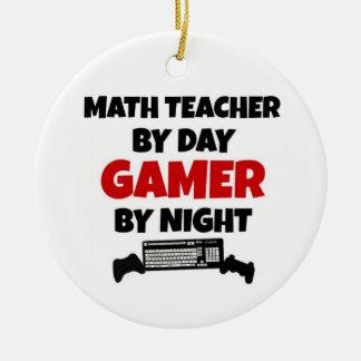 Mathe-Lehrer durch TagesGamer bis zum Nacht Keramik Ornament