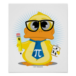 Mathe-Lehrer-Ente Poster