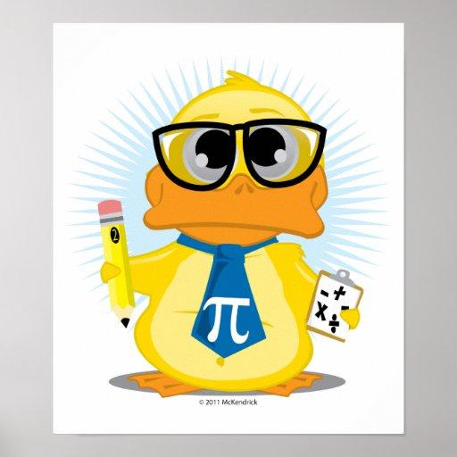 Mathe-Lehrer-Ente Plakatdruck