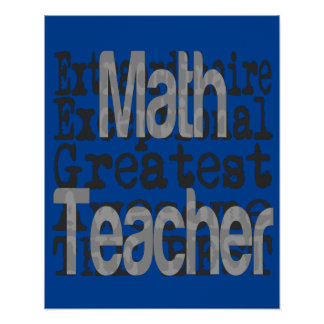 Mathe-Lehrer Extraordinaire Poster