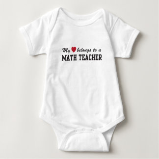 Mathe-Lehrer-Liebe Baby Strampler