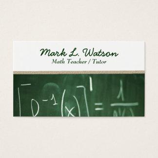 Mathe-Lehrer-Visitenkarte Visitenkarte