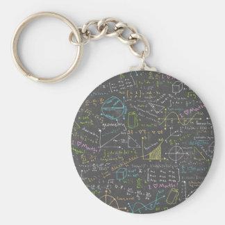 Mathe-Lektionen Standard Runder Schlüsselanhänger