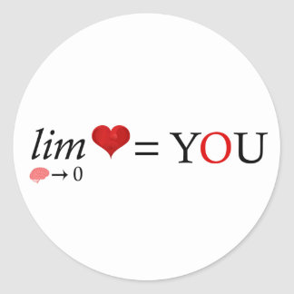 Mathe-Liebe Runder Aufkleber