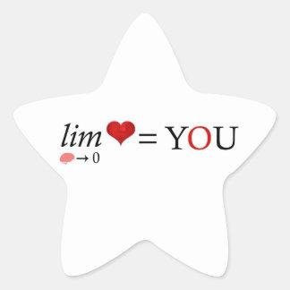 Mathe-Liebe Stern-Aufkleber