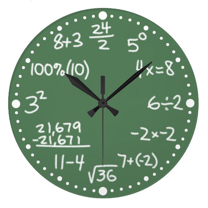 mathemathematische gleichungsuhr mit minuten große