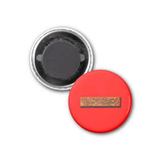 Mathe minus des Zeichen-Unterrichts-oder Runder Magnet 2,5 Cm