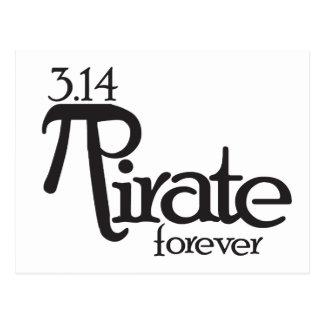Mathe-Pirat für PU-Tag Postkarte