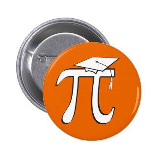 Mathe-PU-Absolvent - Orange und Weiß Runder Button 5,7 Cm