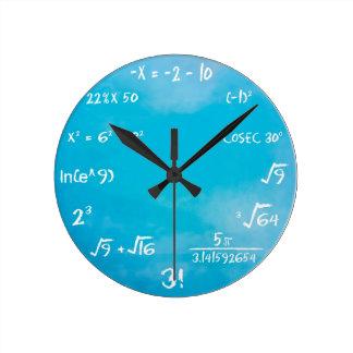 Mathe-Quiz-Uhr - Uhr-Blau Runde Wanduhr