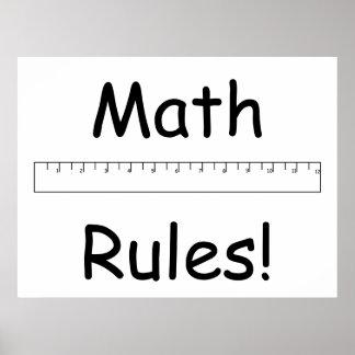 Mathe-Regeln! Poster