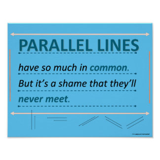 Mathe-Spaß-Zitat-Ähnlichkeits-Linien Poster