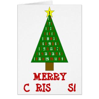 Mathe-Weihnachtskarte Karte