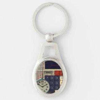 Mathefinanzberater-Buchhaltertaschenrechner Schlüsselanhänger