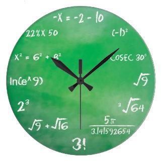 Mathematik-Gleichungs-Quiz für Aussenseiter Große Wanduhr