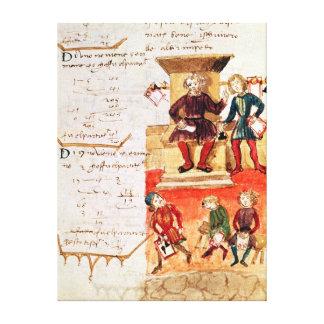 Mathematik-Lektion, von einer mathematischen Abhan Gespannter Galeriedruck
