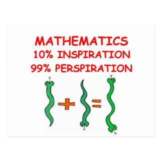 Mathematik Postkarte