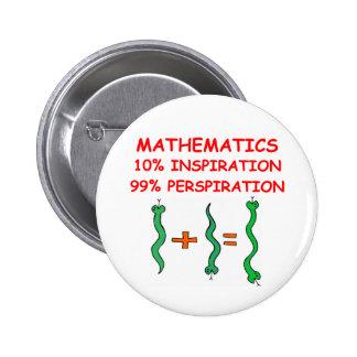 Mathematik Runder Button 5,7 Cm