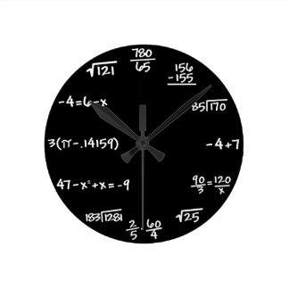 Mathematik-Tafel-Uhr - Mathematiker Runde Wanduhr
