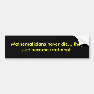 Mathematiker die nie… sie werden gerade ir… autoaufkleber