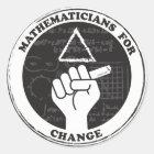 Mathematiker für Änderungsaufkleber Runder Aufkleber