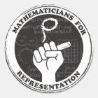 Mathematiker für Darstellungsaufkleber Runder Aufkleber