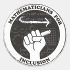 Mathematiker für Einbeziehungsaufkleber Runder Aufkleber