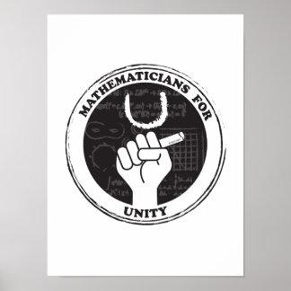Mathematiker für Einheits-Plakat Poster