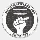 Mathematiker für Gleichheitsaufkleber Runder Aufkleber