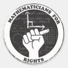Mathematiker für Rechtaufkleber Runder Aufkleber