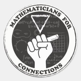 Mathematiker für Verbindungs-Aufkleber Runder Aufkleber