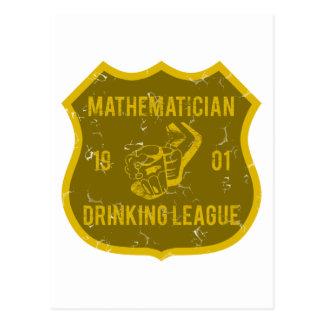 Mathematiker-trinkende Liga Postkarten