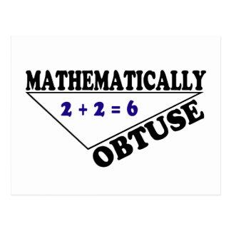 Mathematisch stumpf postkarte