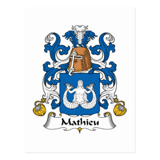 Mathieu-Familienwappen Postkarte