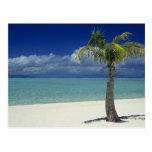 Matira Strand auf der Insel von Bora Bora, 2 Postkarte