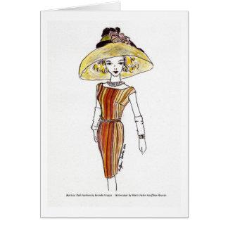 Matisse Puppen-Mode-Aquarell - Cabana Karte