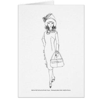 Matisse Puppen-Mode Aquarell Rot/Schwarzes Karte