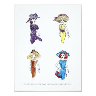 Matisse Puppen-Mode-Aquarelle 1 Individuelle Einladung
