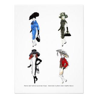 Matisse Puppen-Mode-Aquarelle -2 Personalisierte Einladungskarten