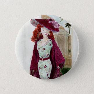 Matisse Puppen-Mode - Rose Runder Button 5,7 Cm