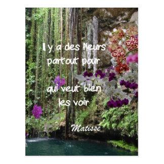 Matisse Zitat auf französisch Postkarte