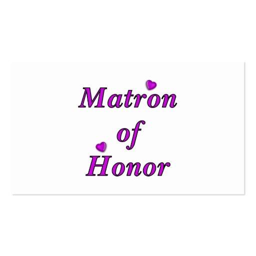 Matrone der Ehreneinfach Liebe Visitenkarten